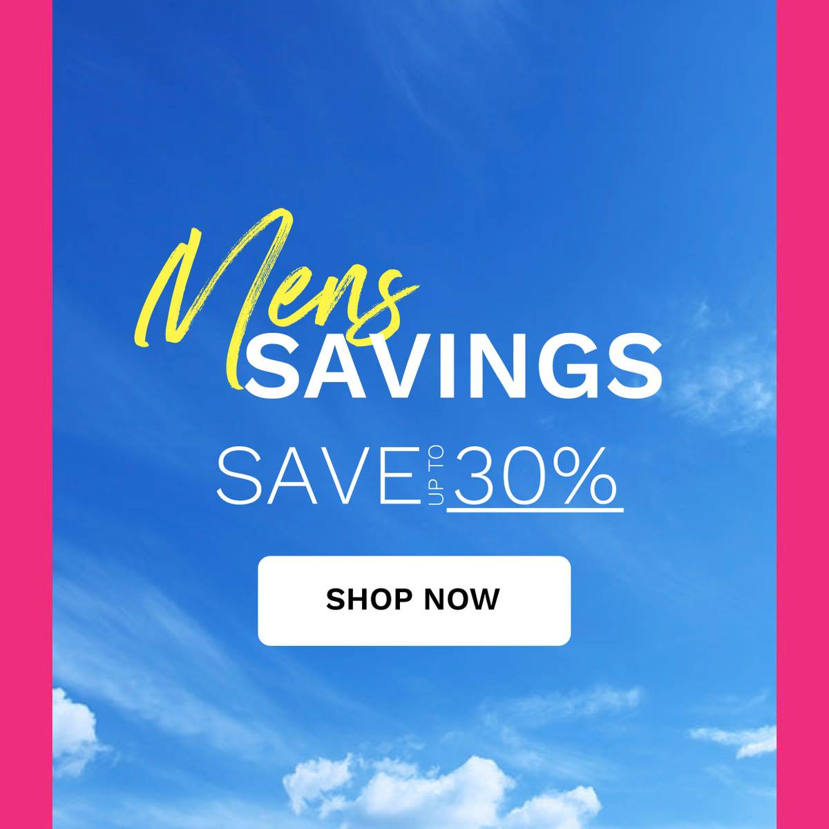 mens save up to 30%