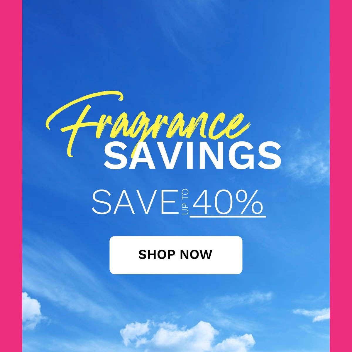 Fragrance 30% savings