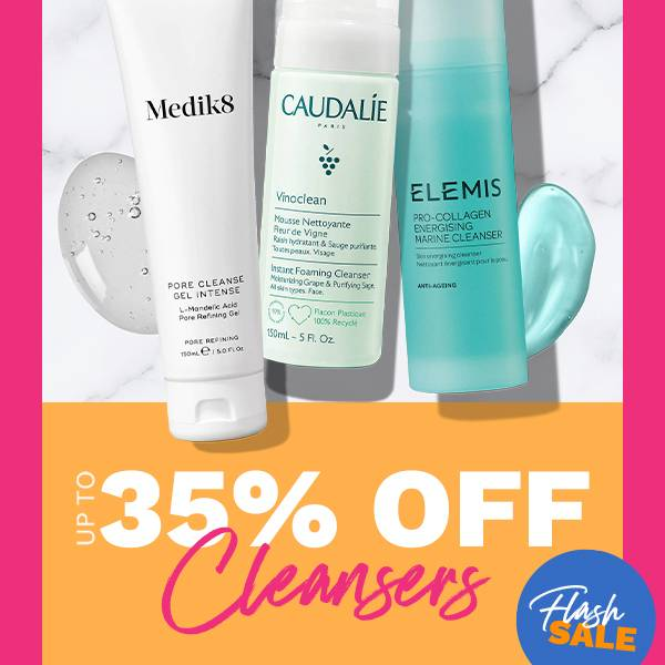 Save up to 35% on selected Cleansers