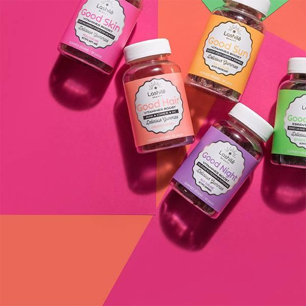 ¡LASHILE es la marca que ayuda a mejorar la digestión, el pelo, la piel y mucho más con gominolas llenas de vitaminas!