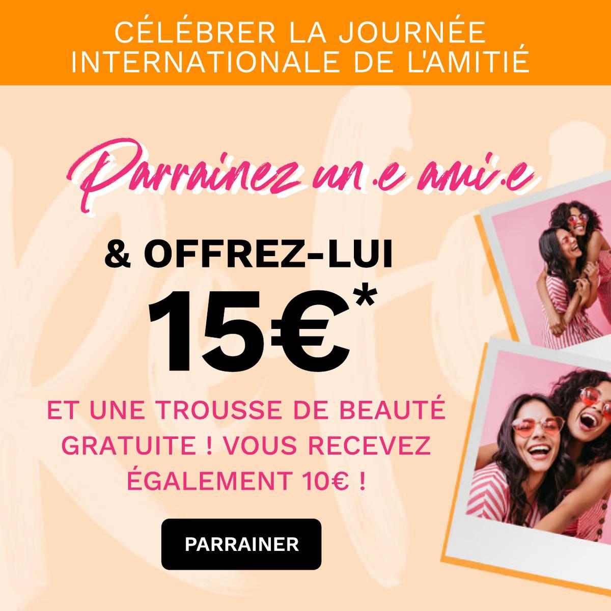 Recrutez un ami et offrez-lui une Beauty Box pour tout achat de 50€ ou plus !