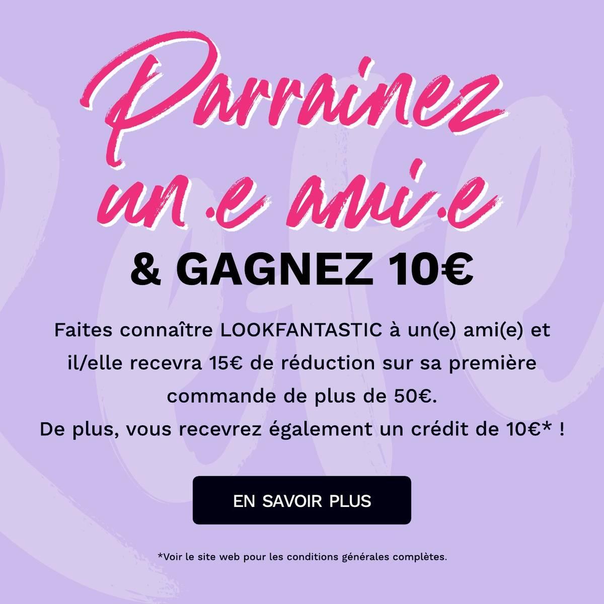 Recrutez un ami et offrez-lui une Beauty Box pour tout achat de 50 € ou plus !