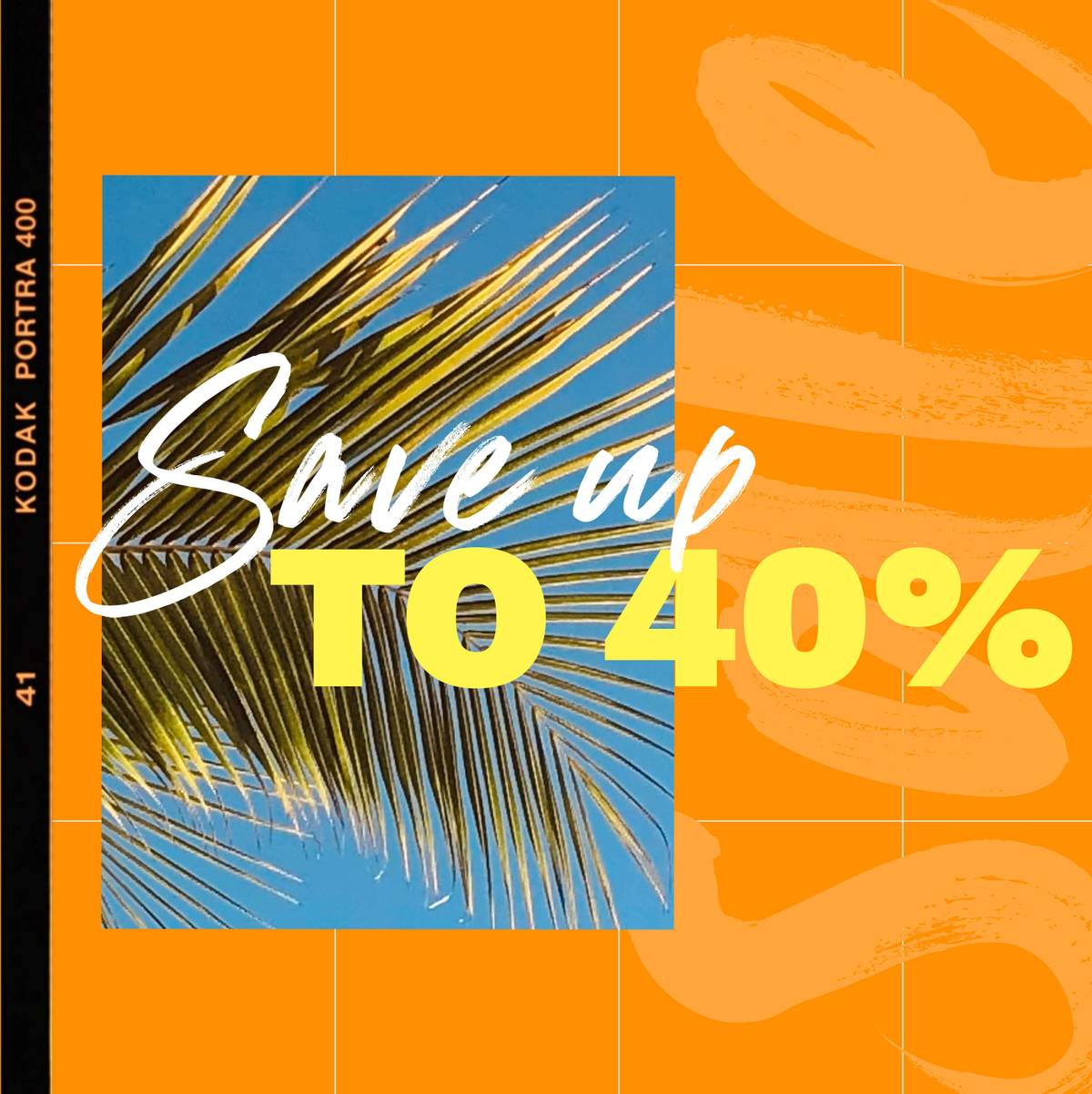 Save up to 40% in our summer sale