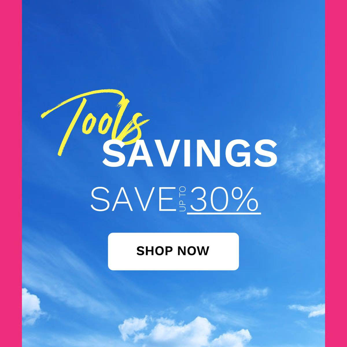 tools save up to 30%