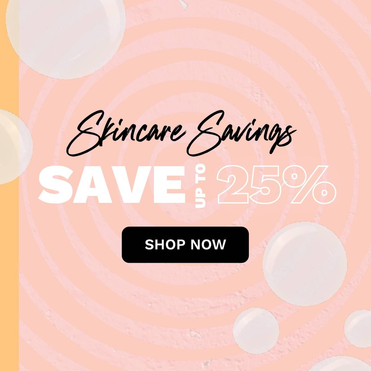 Up to 30% off skincare