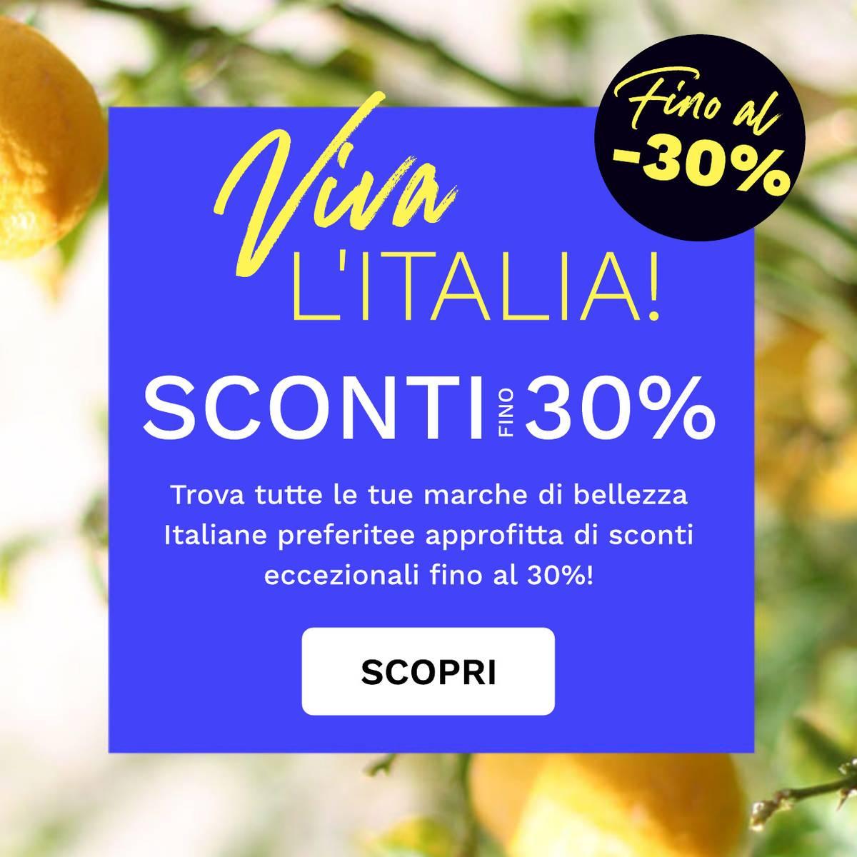 Fino al -30% di sconto sulle marche Italiane