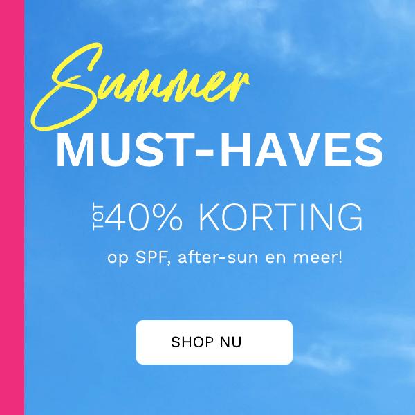 TOT 40% KORTING OP SUMMER MUST HAVES