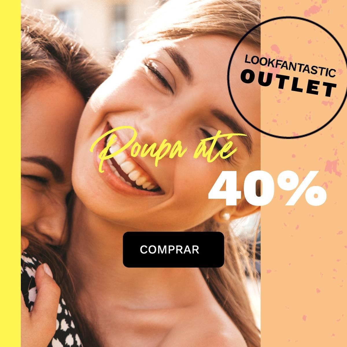 poupa até 40% no outlet da lookfantastic