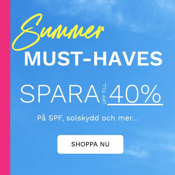 Spara upp till 40% pa SPF, solskydd och mer...