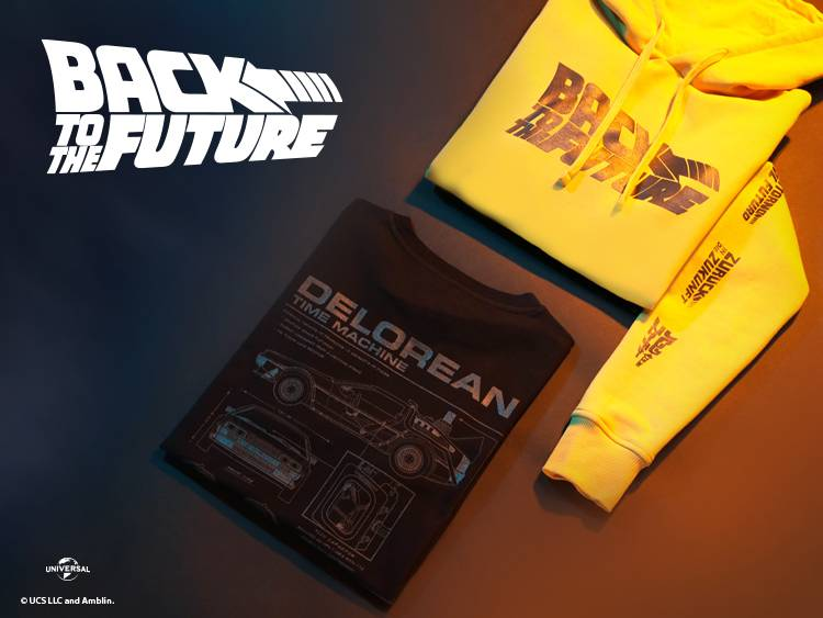 BACK TO THE FUTURE LAUNCHES CLOTHING