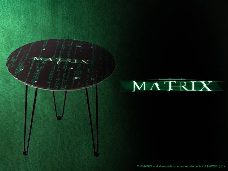 The Matrix Wooden Side Table