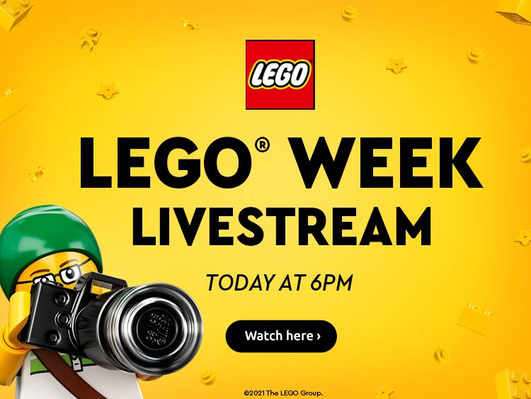Lego Take over stream at 6pm