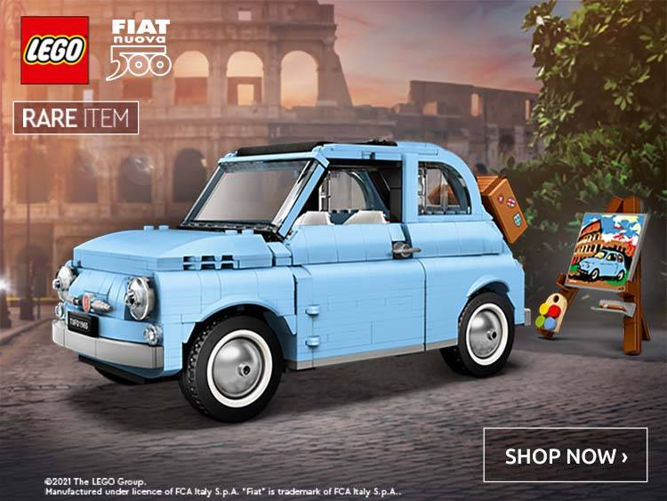 LEGO Creator Expert Fiat 500 Baby Blue Exclusive Limited Edition Collectible Model