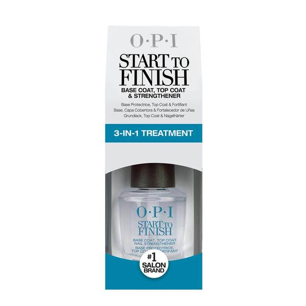 OPI Start To Finish 3-in-1 Strengthener Base and Top Coat 15ml