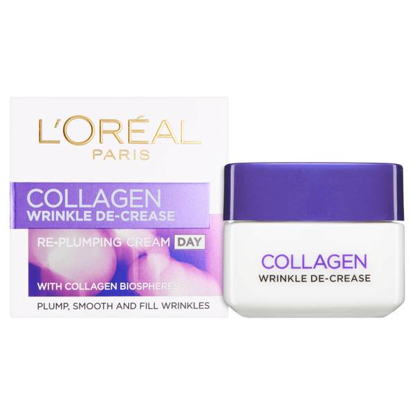 Crema de día redensificanteDermo Expertise Wrinkle Decrease Collagen Re-plumper Day Cream de L'Oreal Paris (50 ml)