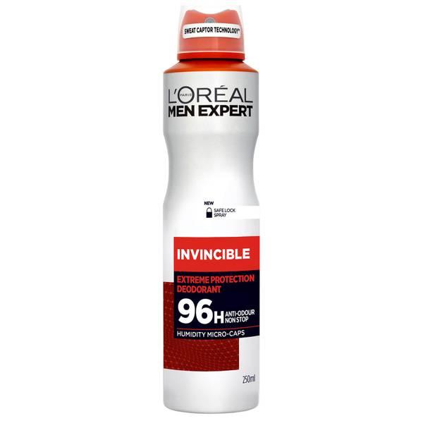 L'Oréal Men Expert Invincible 96 Hours Deodorant Spray (250ml)