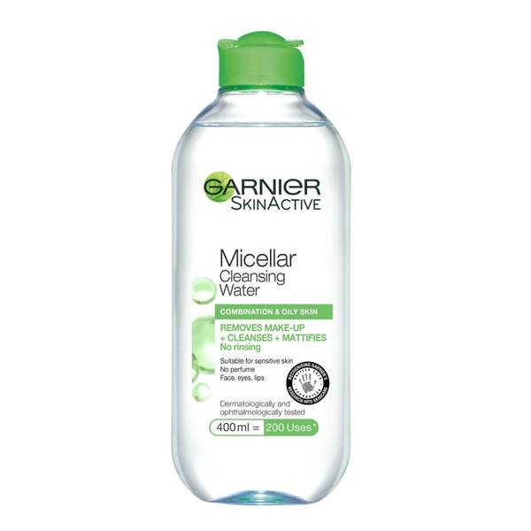 Garnier Micellar Water Facial Cleanser and Makeup Remover forCombination Skin 400ml
