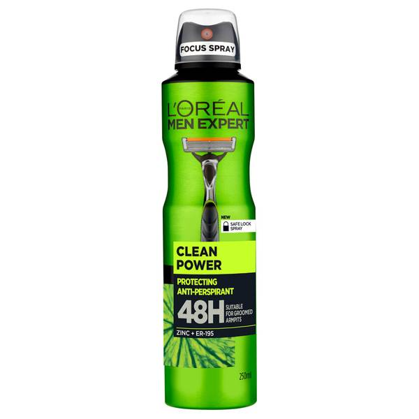 L'Oréal Paris Men Expert Clean Power 48H Anti-Perspirant (250ml)