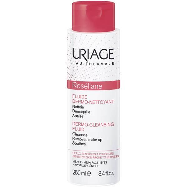 Uriage Roséliane Anti-Redness Dermo-Cleansing Fluid żel do demakijażu łagodzący zaczerwienienia skóry 250 ml