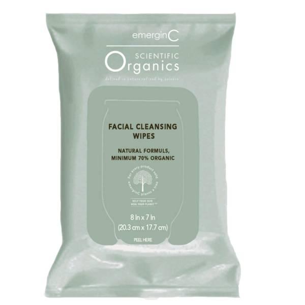 EmerginC Scientific Organics Facial Cleansing Wipes (30 Wipes)