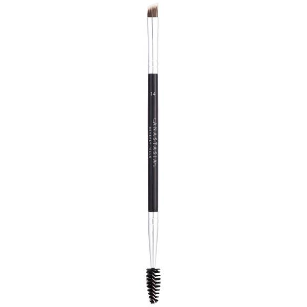 Anastasia Beverly Hills #14 Duo Brow/Eye Liner Angled Cut/Spooley Synthetic Brush