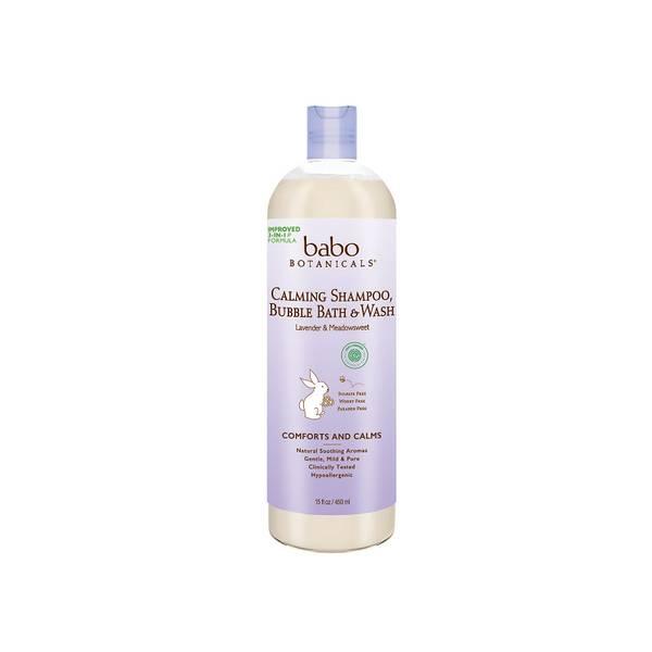 Babo Botanicals Calming Baby 3-in-1: Bubble Bath, Shampoo & Wash - Lavender & Meadowsweet