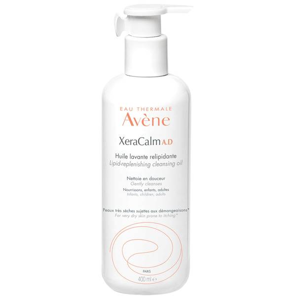 Avène XeraCalm A.D. Lipid-Replenishing Cleansing Oil for Dry, Itchy Skin 400ml
