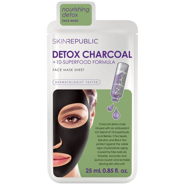 Skin Republic Superfood Detox + Charcoal Mask 25ml