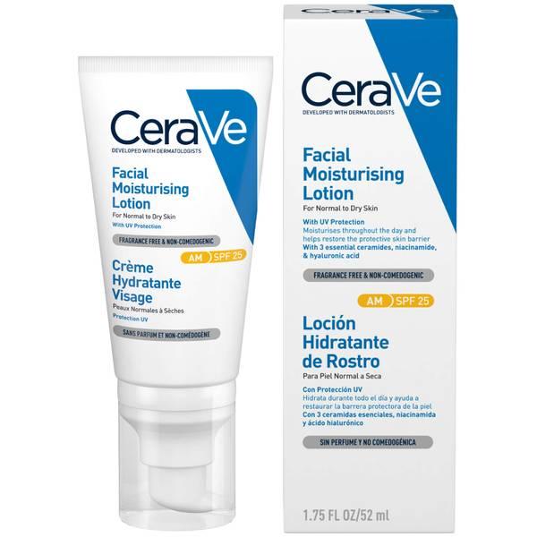 Loção Hidratante Facial da CeraVe FPS 25 52 ml