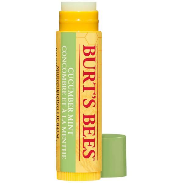 Burt's Bees 100% Natural Moisturising Lip Balm Cucumber Mint with Beeswax 4.25g