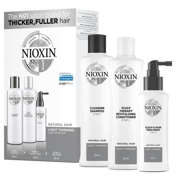 Kit d'Essai1 Système 3Étapes pour Cheveux Naturels avec Perte Légère des Cheveux NIOXIN
