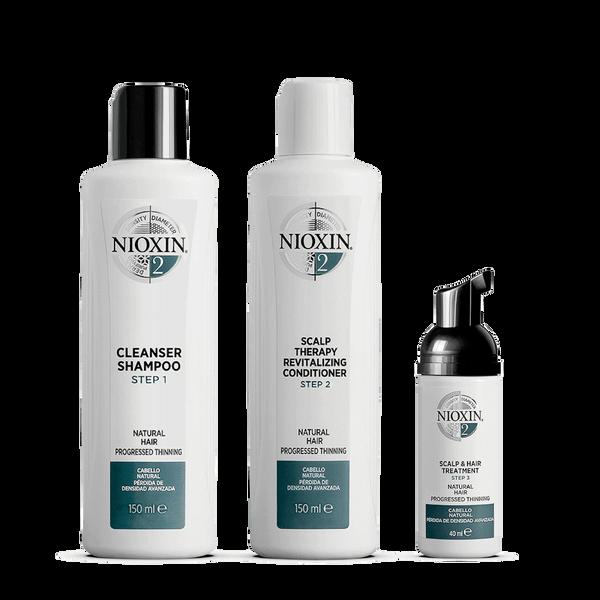 Kit d'Essai2 Système 3Étapes pour Cheveux Naturels avec Perte Régulière des Cheveux NIOXIN