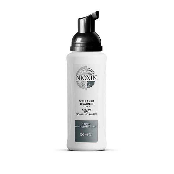 NIOXIN 3-Part System 2 Scalp and Hair Treatment for Natural Hair with Progressed Thinning 100ml