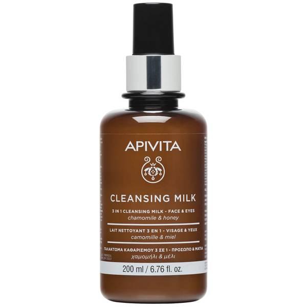 APIVITA 3 in 1 Cleansing Milk for Face & Eyes 200ml