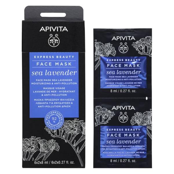 Mascarilla facial hidratante Express de APIVITA - Lavanda marina 2 x 8 ml