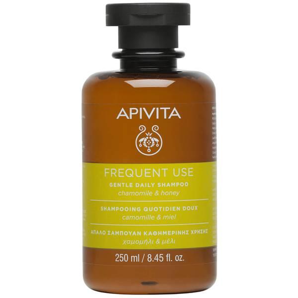 Champú suave de uso diario para el cuidado holístico del cabello de APIVITA - camomila y miel 250 ml