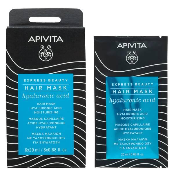 Mascarilla capilar hidratante de APIVITA Express - Ácido hialurónico 20 ml