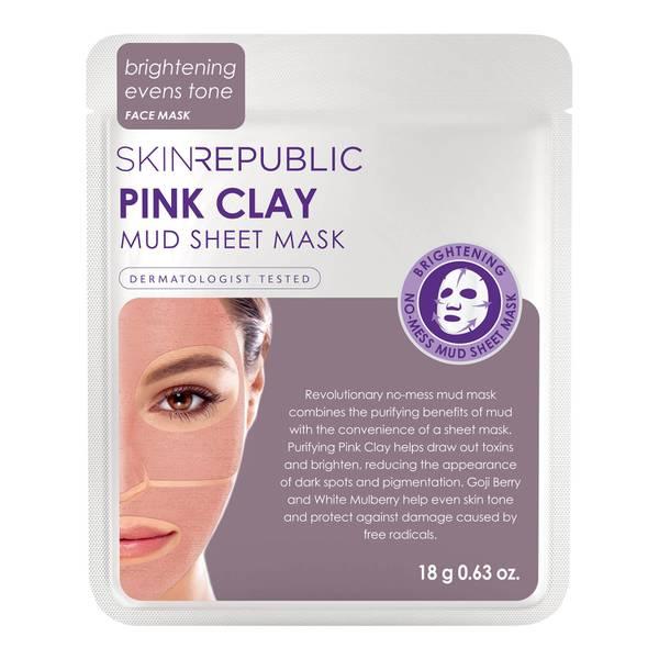 Skin Republic Pink Clay Mud Face Sheet Mask 18g
