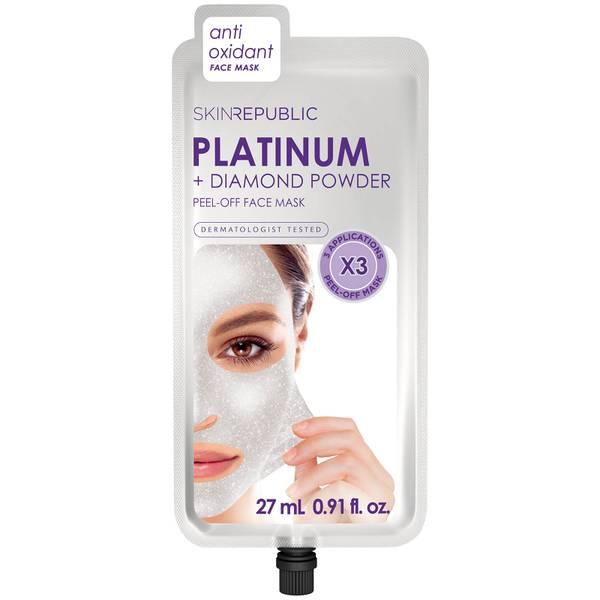 Skin Republic Platinum + Diamond Powder Peel Off Mask 27ml (3 Applications)
