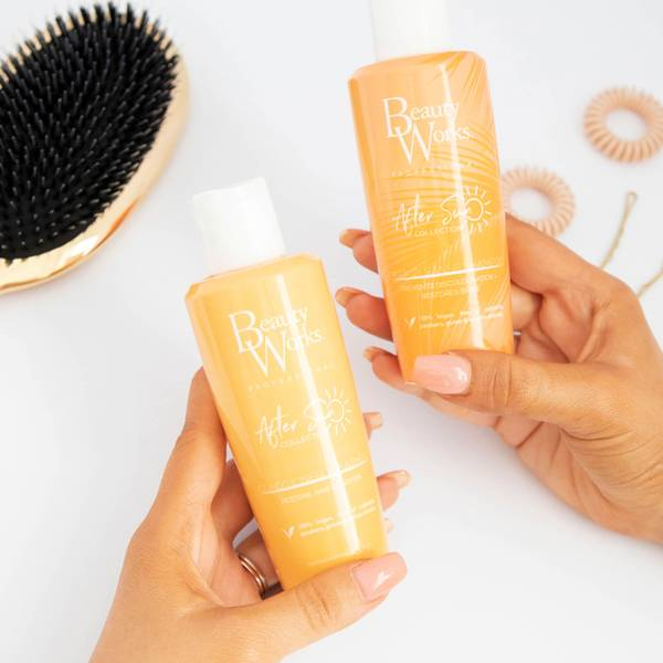 Beauty Works After Sun Discoloration and Restore Shine Duo