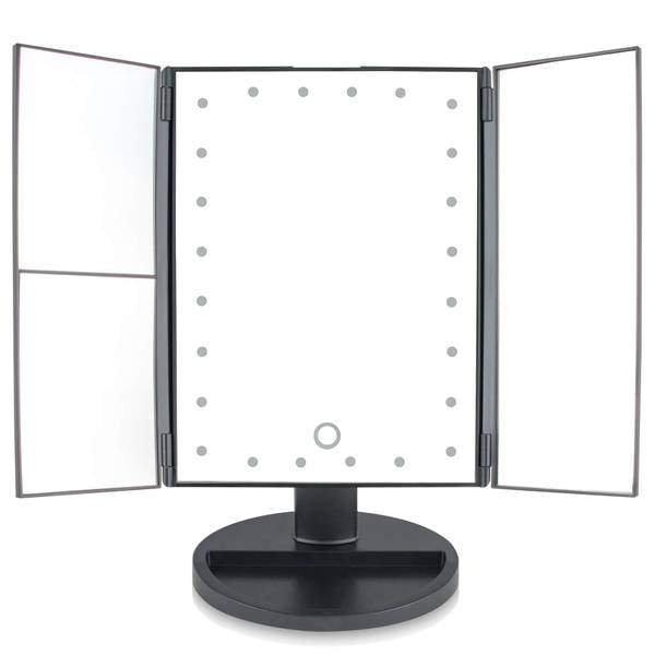 Rio 24 LED Touch Dimmable Cosmetic Makeup Mirror With 2X & 3X Magnification