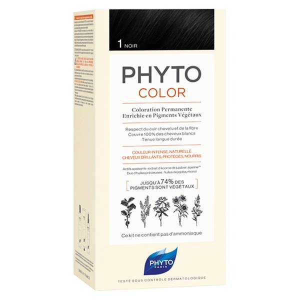 Phyto Hair Colour by Phytocolor - 1 Black 180g