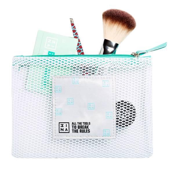 3INA Makeup Mesh Makeup Bag