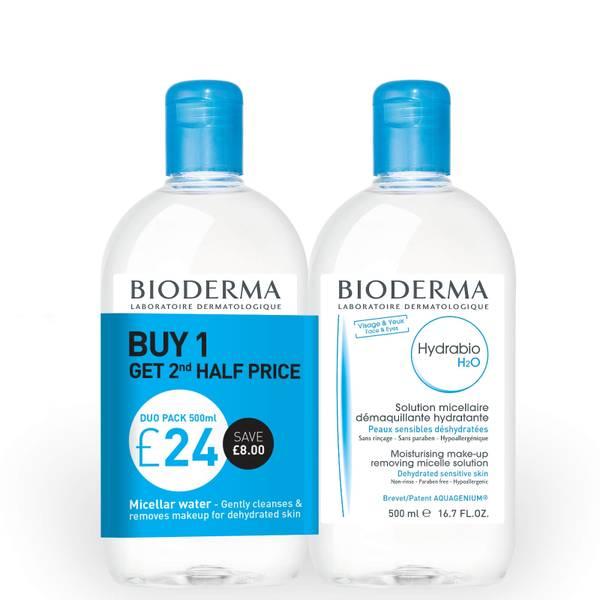 Bioderma Hydrabio Cleansing Micellar Water Dehydrated Skin Duo Pack 500ml