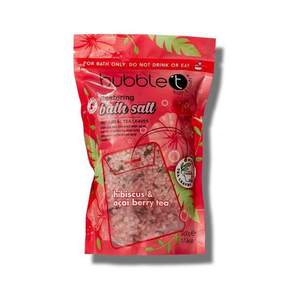 Bubble T Bath Salts Hibiscus & Acai Berry Tea 500g