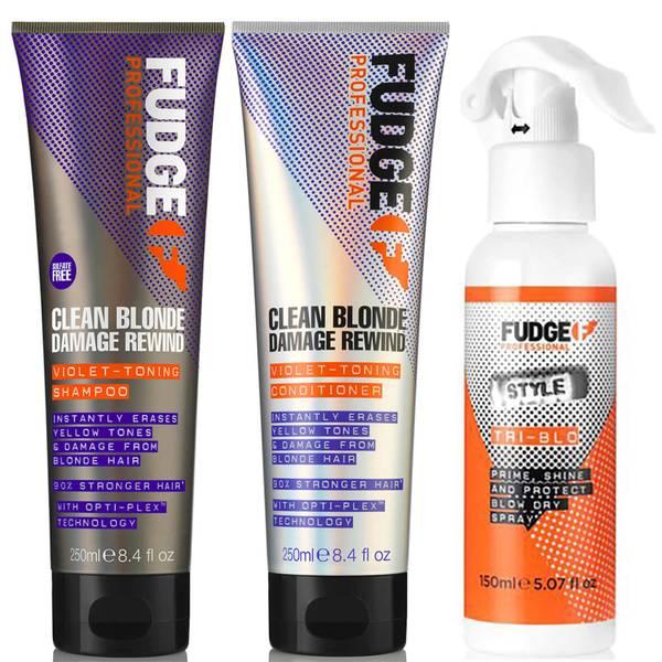 Fudge Clean Blonde Damage Rewind Bundle