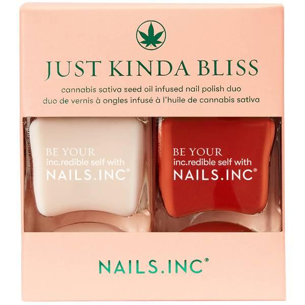 nails inc. Just Kinda Bliss Nail Polish 14ml Duo