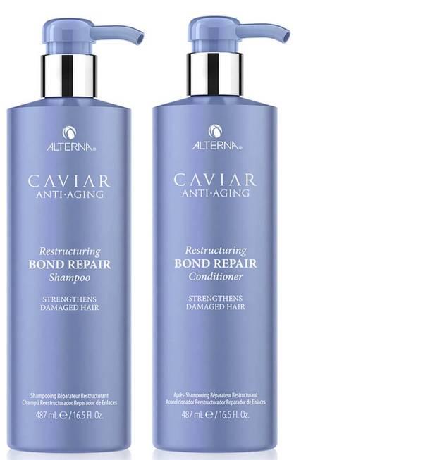 Alterna Caviar Anti-Ageing Restructuring Bond Repair Shampoo and Conditioner 16.5 oz (Worth $132)