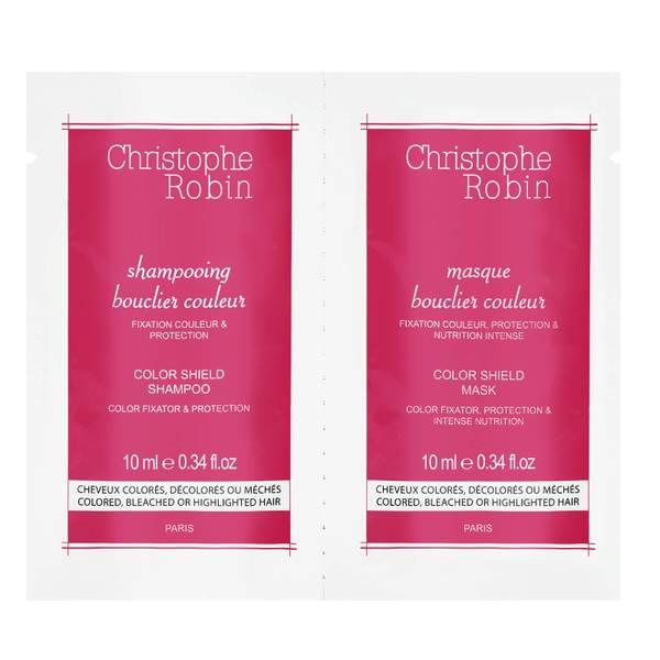Christophe Robin Shampoo + Mask Duo Sachet Samples 10ml + 10ml