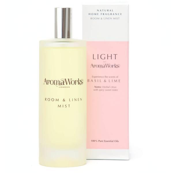 AromaWorks Light Range - Basil and Lime Room Mist